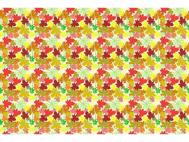 Designtapete Teppich Aus Blättern