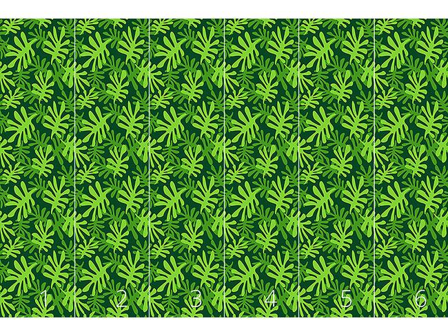 Designtapete Blattgrün