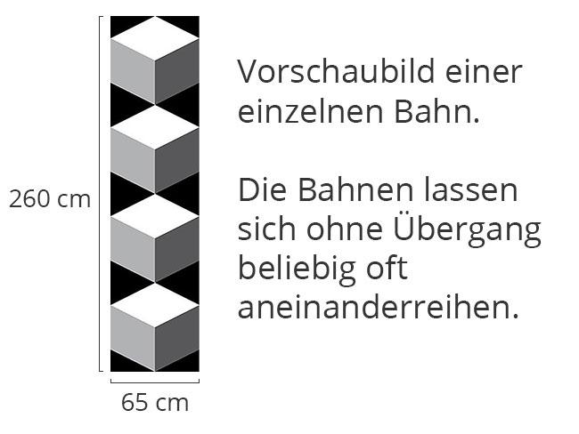 Designtapete Würfel Auf Schwarz