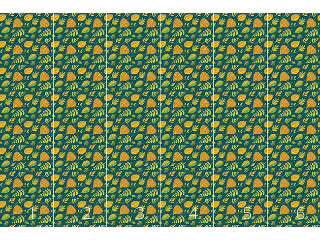 Designtapete Stilisierte Blätter