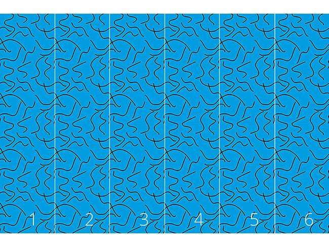 Designtapete Abstrakte Wasserschlangen
