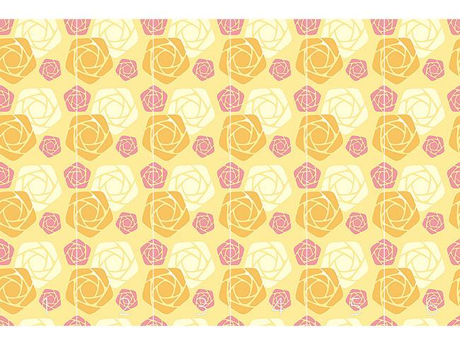 Designtapete Geometrische Rosen