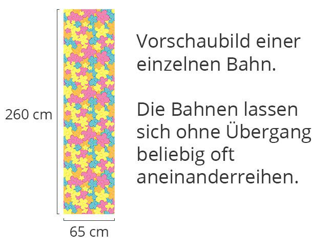 Designtapete Blümchen Reigen