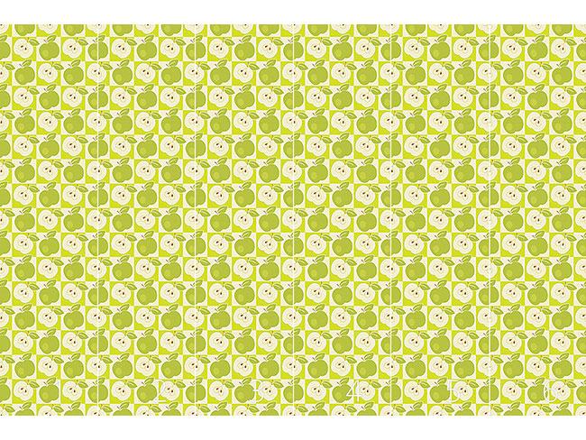 Designtapete Äpfel Zum Quadrat