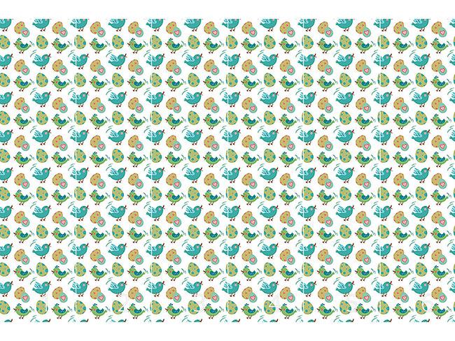 Designtapete Süsse Ostereier und Vögel