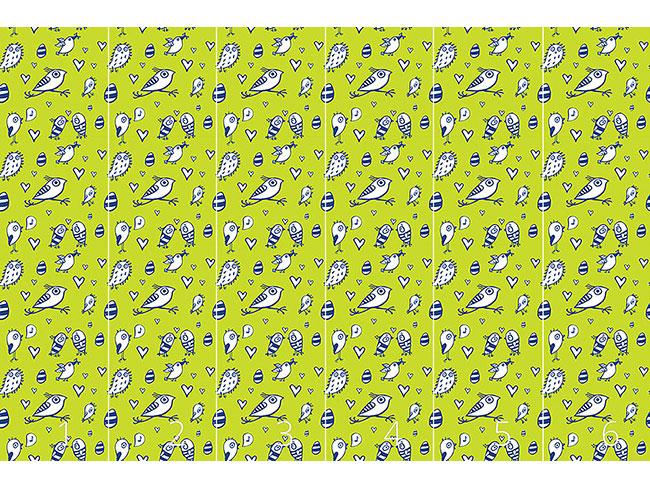 Designtapete Ostervögel