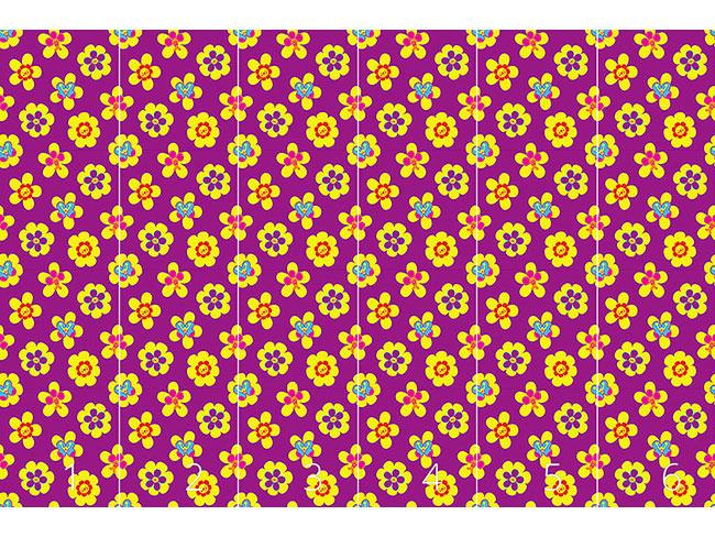 Designtapete Freundliche Blumen