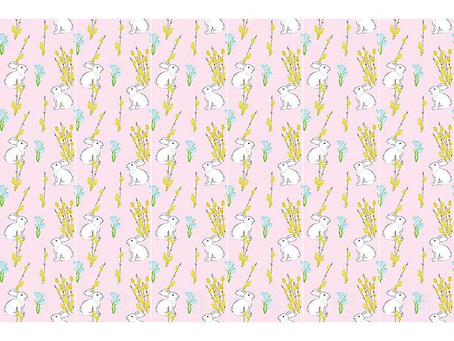 Designtapete Osterhase Und Blühende Weide