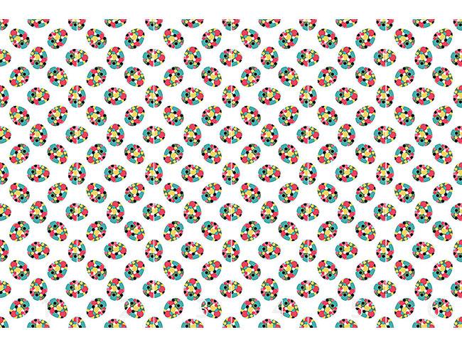 Designtapete Ostereier Mit Polka Dots