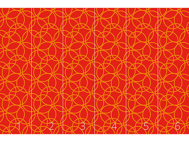 Designtapete Ring Frei Rot