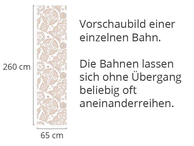 Designtapete Floriental Braun