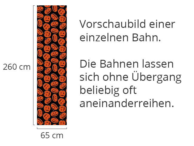 Designtapete Kürbisköpfe Schwarz