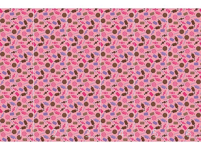 Designtapete Zuckerl Erdbeer
