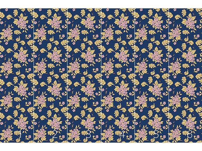 Designtapete Dunkelblaues Bouquet