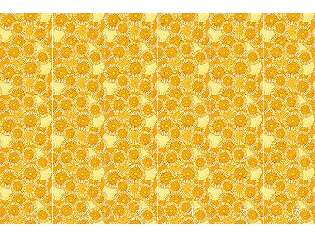 Designtapete Sonniges Blütenmeer