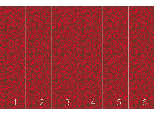 Designtapete Rosenblüten Rot