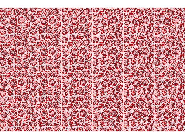 Designtapete Rosenblüten Rosarot