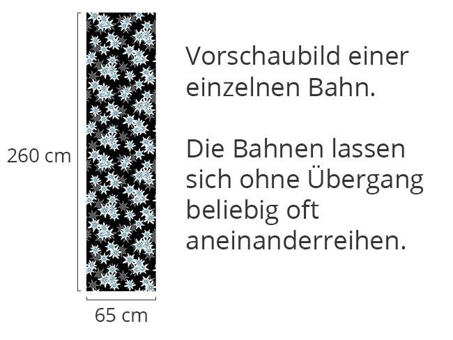 Designtapete Edelweiss Schwarz