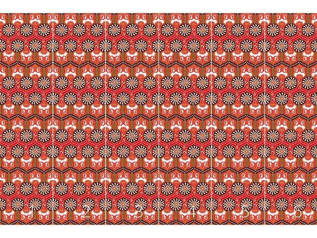 Designtapete Orientalische Gänge Rot