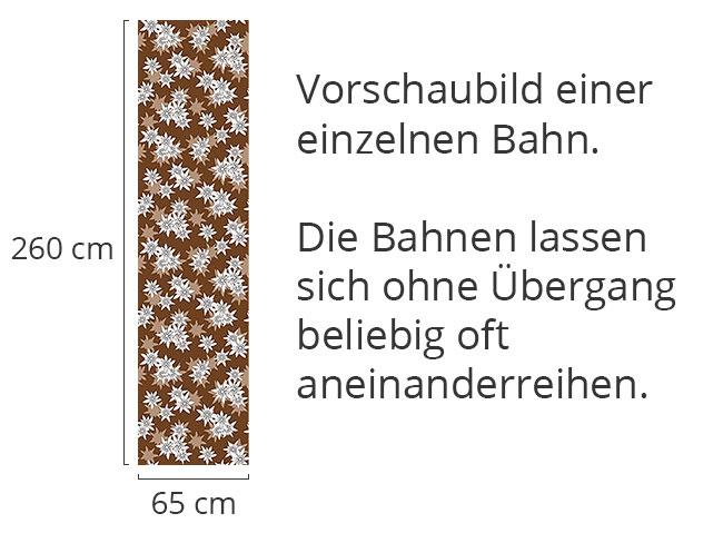 Designtapete Edelweiss Braun