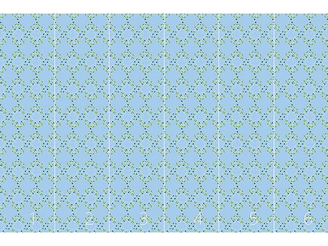 Designtapete Vergissmeinnicht Blau