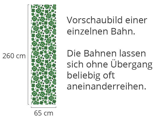 Designtapete Kleeblätter Weiss
