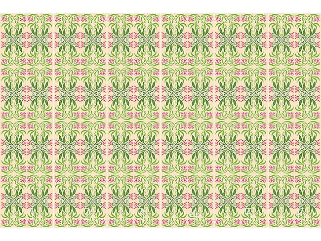 Designtapete Mystic Flora Grün