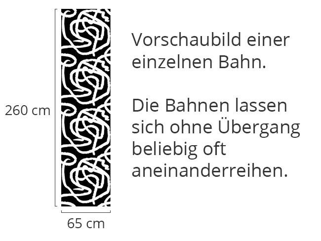 Designtapete Schwarz Weiss Malerei