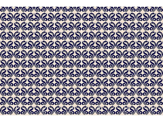 Designtapete Expressiv Blau