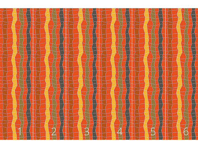 Designtapete Aborigine Karo