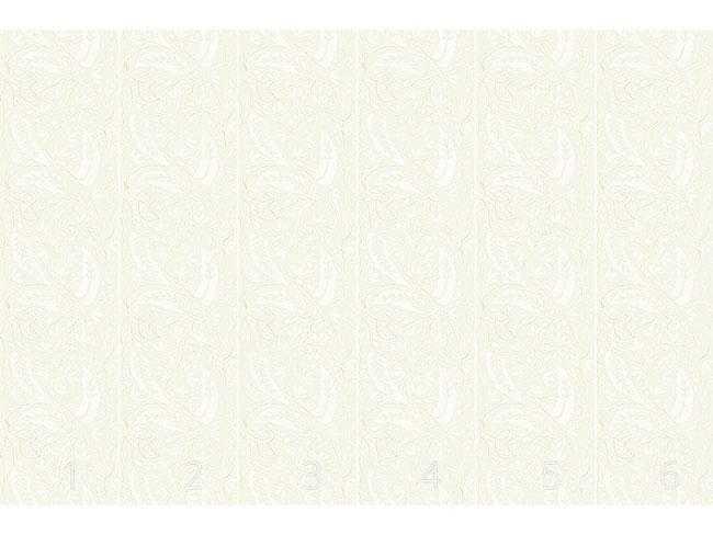 Designtapete Blätter Und Blumen Paisley
