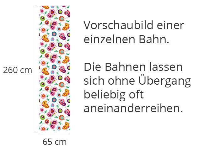 Designtapete Flattermann Kunterbunt