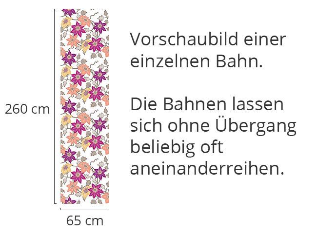 Designtapete Clematis Traumgarten In Weiss