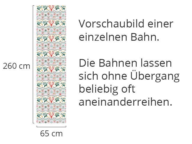 Designtapete Fröhliche Hirschnacht