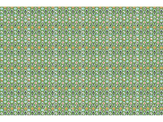 Designtapete Gruselparade Grün