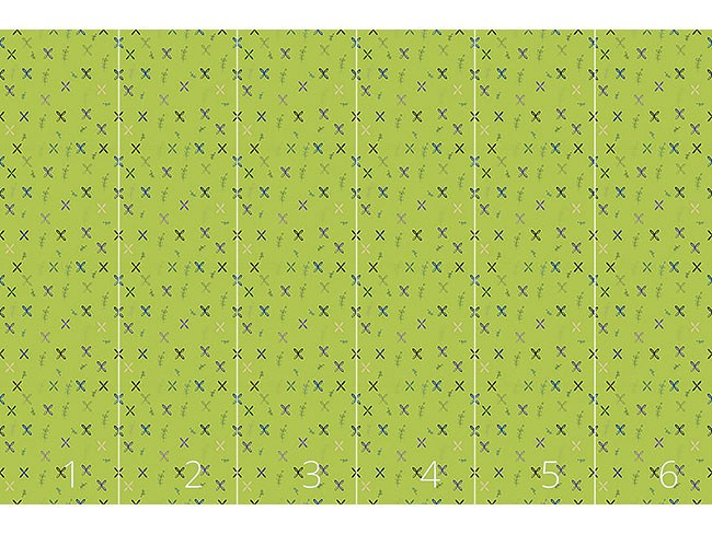 Designtapete Resis Wandmalerei Grün