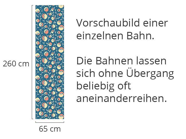 Designtapete Frauenschuh Blau