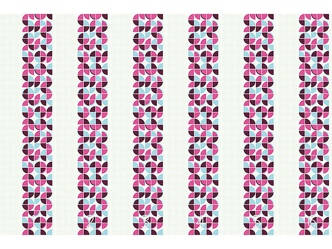 Designtapete Retropolis Pink