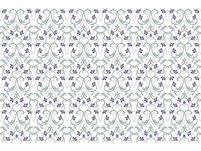 Designtapete Blumen Am Gotischen Tor