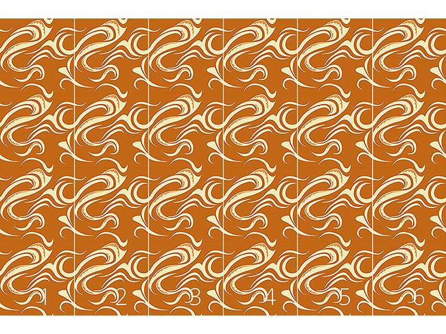 Designtapete Paikea Orange