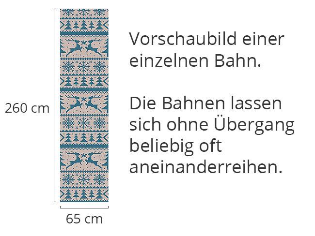 Designtapete Wolliger Wildwechsel Blau
