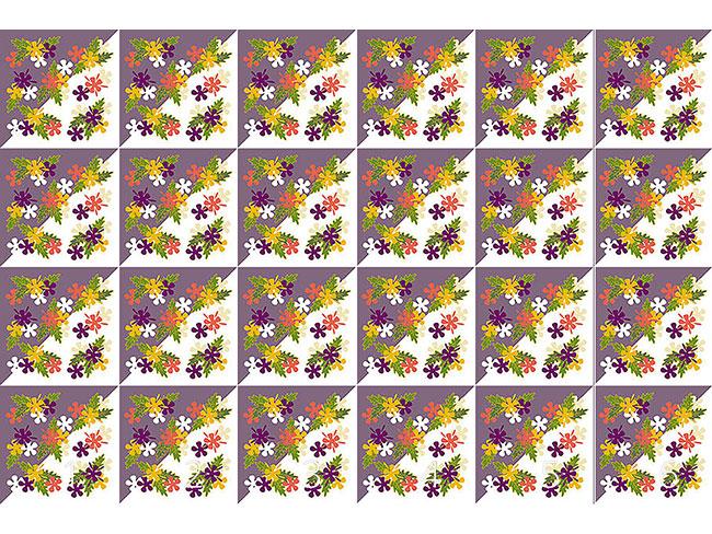 Designtapete Blumen In Lila