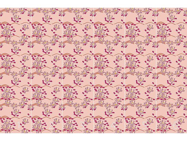 Designtapete Lotus Liebe Pink