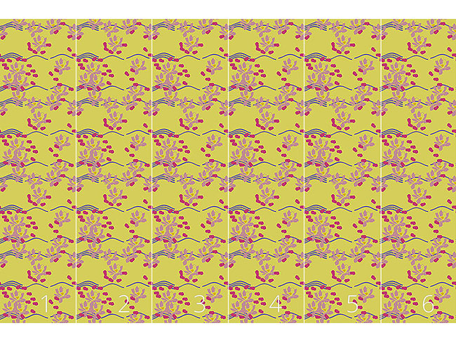 Designtapete Lotus Liebe Gelb