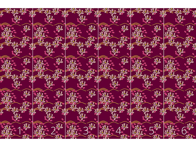 Designtapete Lotus Liebe Bordeaux