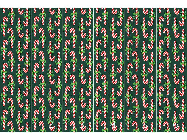 Designtapete Zuckerstangen Grün