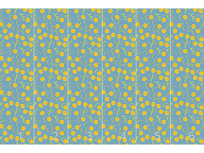Designtapete Zitronenscheiben Muster