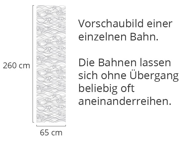Designtapete Wellenlängen Weiss