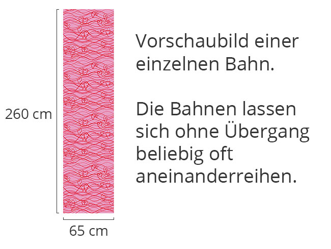 Designtapete Wellenlängen Pink