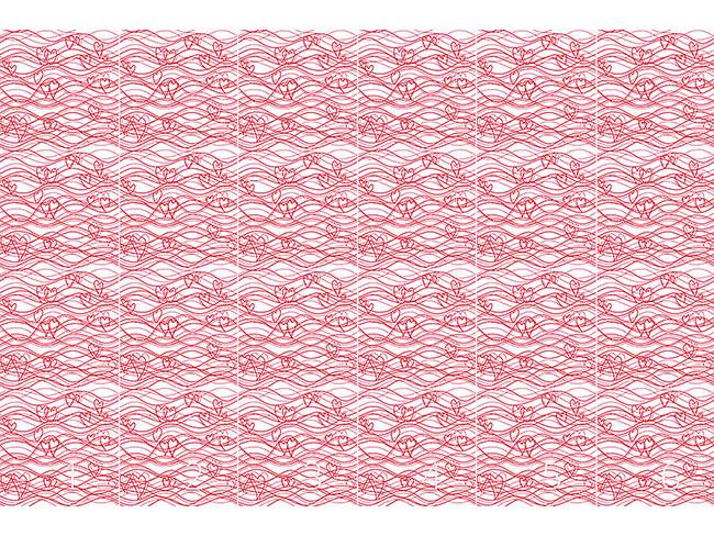 Designtapete Wellenlängen Voraus